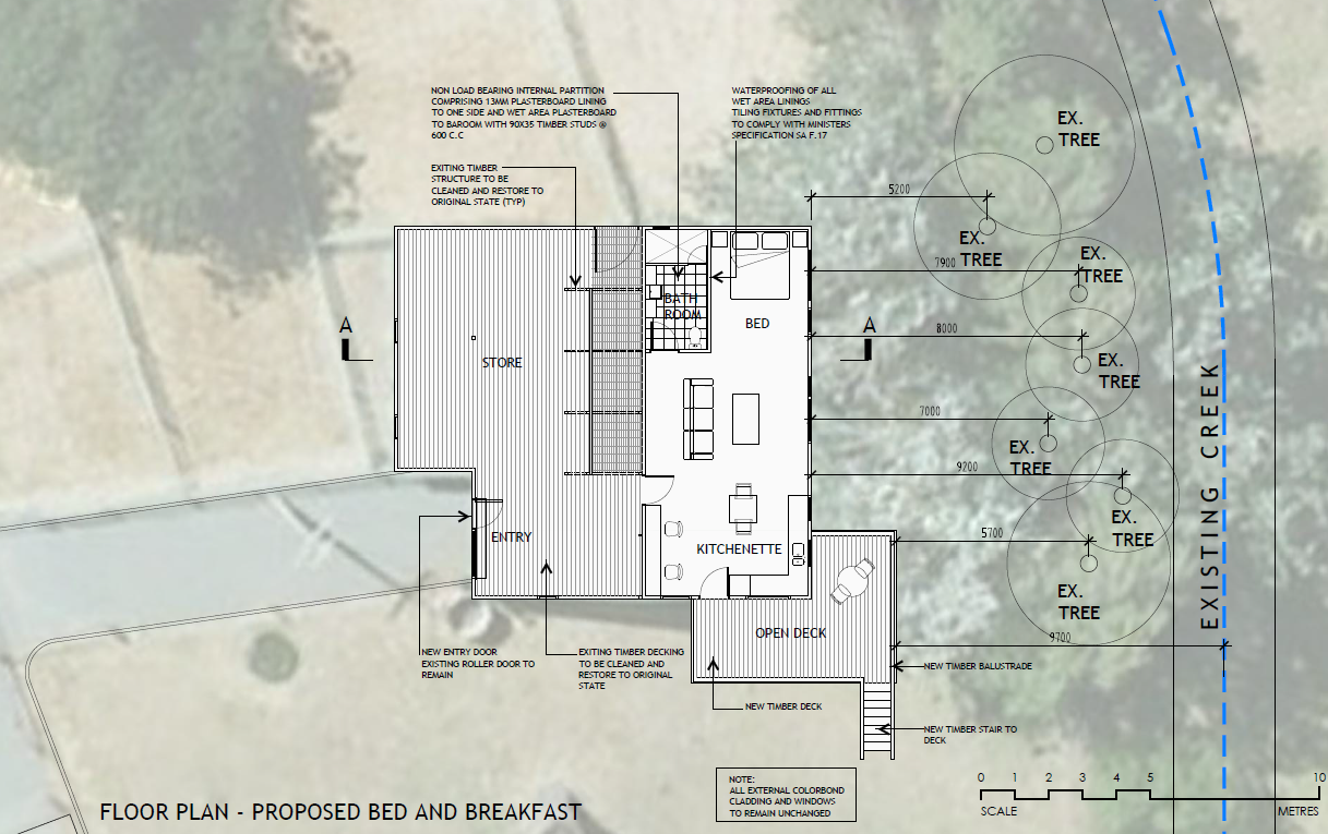 Non complying change of use in primary production zone for Bed and breakfast design plans